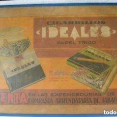 Carteles Publicitarios: CARTEL PUBLICITARIO ENMARCADO CIGARRILLOS IDEALES. Lote 140294202