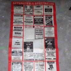 Carteles Publicitarios: RARO CARTEL ACTUALIDAD DE ESPECTACULOS EN PARIS 1980 CARTEL NUMERO 197 MEDE 120X 60. Lote 140863797