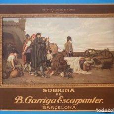 Carteles Publicitarios: PUBLICIDAD SOBRINA DE B. GARRIGA ESCARPANTER, BARCELONA - AÑOS 1930. Lote 143597310
