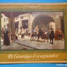 Carteles Publicitarios: PUBLICIDAD EN CARTON DE DE B. GARRIGA ESCARPANTER, BARCELONA - AÑOS 1920-30. Lote 143598230