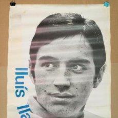 Carteles Publicitarios: LLUIS LLACH,CARTEL DE 1967.MIDE 97CM.X67CM.. Lote 147484361