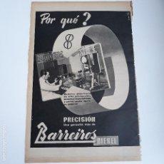 Carteles Publicitarios: RECORTE PUBLICIDAD. IDEAL PARA ENMARCAR. PRECISION BARREIROS. Lote 145374974