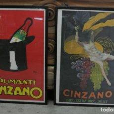 Carteles Publicitarios: DOS CARTELES ENMARCADOS. PUBLICIDAD: SPUMANTI CINZANO. AÑOS 70. ITALIANOS. Lote 146307218