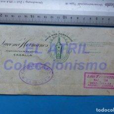 Carteles Publicitarios: LUCENA HERMANOS, CAZALLA - ANIS SAN FERNANDO - ORIGINAL PINTADO A MANO. Lote 147884034