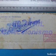 Carteles Publicitarios: AVILA - ALMACEN DE MADERAS, CAL, YESO, CEMENTO Y CAÑIZO JOSE L. LOPEZ - ORIGINAL PINTADO A MANO. Lote 147886078