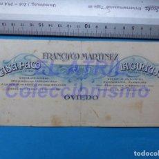 Carteles Publicitarios: OVIEDO - FRANCISCO MARTINEZ - REGALOS, BAZAR, JUGUETES, PERFUMERIA - ORIGINAL PINTADO A MANO. Lote 147890786