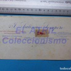 Carteles Publicitarios: GANDIA, VALENCIA - J. SALINAS SEMPERE, COMPAÑIA TRANSMEDITERRANEA - ORIGINAL PINTADO A MANO. Lote 147891042