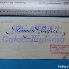 Carteles Publicitarios: VINAROZ, CASTELLON - RAMON BOFILL, AGENTE COMERCIAL COLEGIADO, BANCO ESPAÑOL ORIGINAL PINTADO A MANO. Lote 147895622