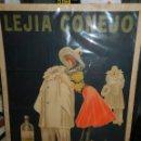 Carteles Publicitarios: CARTEL ORIGINAL - LEJIA CONEJO , FABRICANTE: HIJO DE S CASAMITJANA MENSA, ILUST. POR THOR , AÑOS 20. Lote 150003926