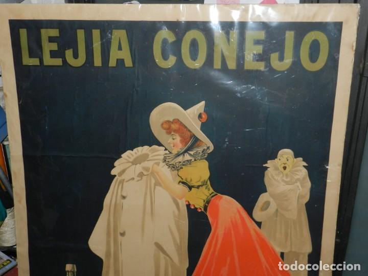 Carteles Publicitarios: CARTEL ORIGINAL - LEJIA CONEJO , FABRICANTE: HIJO DE S CASAMITJANA MENSA, ILUST. POR THOR , AÑOS 20 - Foto 3 - 150003926
