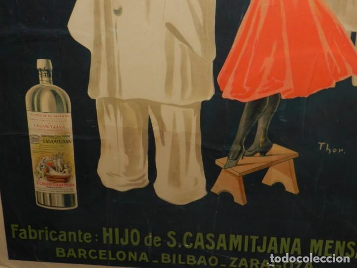 Carteles Publicitarios: CARTEL ORIGINAL - LEJIA CONEJO , FABRICANTE: HIJO DE S CASAMITJANA MENSA, ILUST. POR THOR , AÑOS 20 - Foto 5 - 150003926