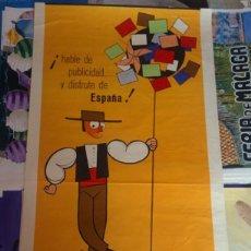 Carteles Publicitarios: POSTER ORIGINAL DEL *4º CONGRESO INTERNACIONAL DE PUBLICIDAD*. DISEÑO DE OLMOS. AÑO 1961. Lote 150083978