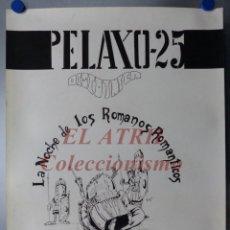 Carteles Publicitarios: PERELLONET, VALENCIA - DISCOTECA PELAYO 25 - AÑO 1981 - ORIGINAL PINTADO A MANO POR PACO ZARZO. Lote 150258746