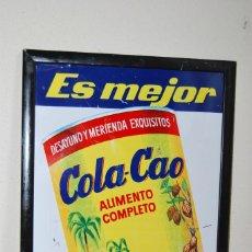 Carteles Publicitarios: CARTEL PUBLICITARIO DE COLA-CAO - CHAPA PUBLICIDAD COLA CAO - AÑOS 60. Lote 150843442