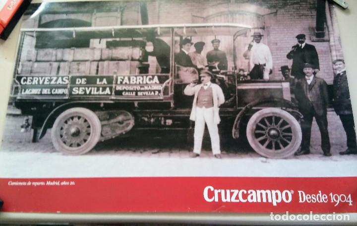 CARTEL CRUZCAMPO CAMIONETA DE REPARTO MADRID AÑOS 20 (Coleccionismo - Carteles Gran Formato - Carteles Publicitarios)