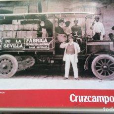 Carteles Publicitarios: CARTEL CRUZCAMPO CAMIONETA DE REPARTO MADRID AÑOS 20. Lote 152429966