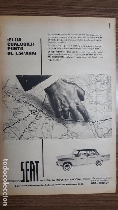 RECORTE PUBLICITARIO. IDEAL PARA ENMARCAR. SEAT (Coleccionismo - Carteles Gran Formato - Carteles Publicitarios)