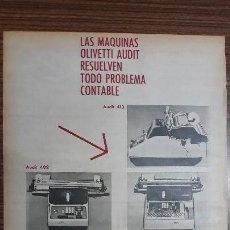 Carteles Publicitarios: RECORTE PUBLICITARIO. IDEAL PARA ENMARCAR. MAQUINA OLIVETTI. Lote 153758530