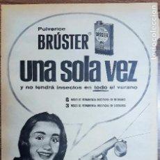 Carteles Publicitarios: RECORTE PUBLICITARIO. IDEAL PARA ENMARCAR. INSECTICIDA BRUSTER. Lote 153796598