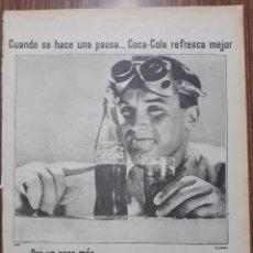 Carteles Publicitarios: RECORTE PUBLICITARIO. IDEAL PARA ENMARCAR. POR UN POCO MAS EL DOBLE DE COCA COLA. Lote 153797602