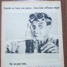 Carteles Publicitarios: RECORTE PUBLICITARIO. IDEAL PARA ENMARCAR. POR UN POCO MAS EL DOBLE DE COCA COLA. Lote 153797882