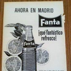 Carteles Publicitarios: RECORTE PUBLICITARIO. IDEAL PARA ENMARCAR. REFRESCO FANTA, COCA COLA. Lote 153800354
