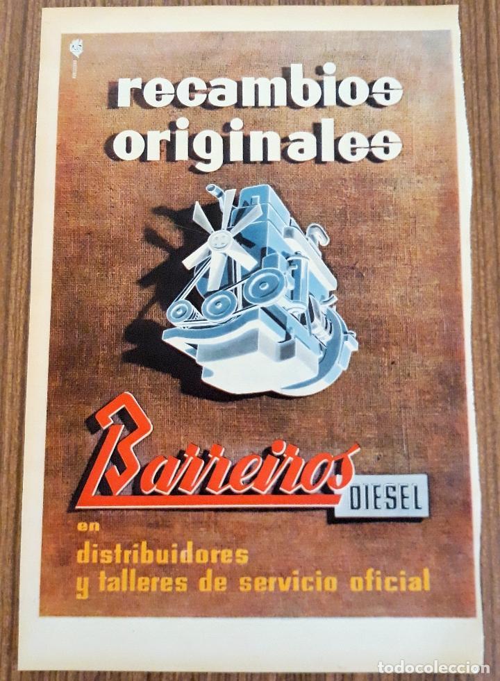 RECORTE PUBLICITARIO. IDEAL PARA ENMARCAR. RECAMBIOS BARREIROS (Coleccionismo - Carteles Gran Formato - Carteles Publicitarios)