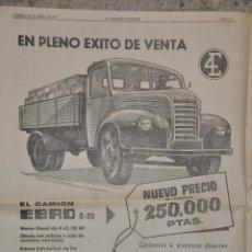 Affissi Pubblicitari: HOJA PUBLICIDAD DEL DIARIO LA VANGUARDIA 1981, EBRO. Lote 154002114