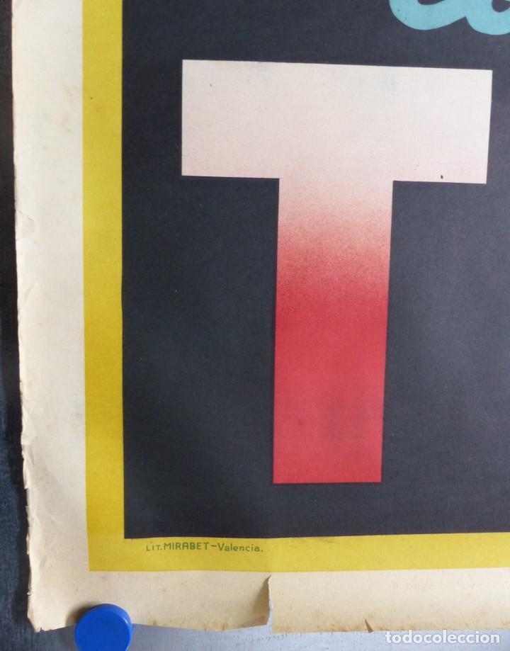 Carteles Publicitarios: Cartel PASTILLAS ASPAIME TOS (hombre) - CARTEL LITOGRAFICO - años 1940 - Foto 3 - 154173338