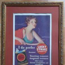 CARTEL PUBLICITARIO TABACO LUCKY STRIKE NEW YORK 1930 ORIGINAL