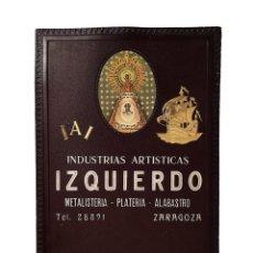 Carteles Publicitarios: ANTIGUO CARTON INDUSTRIAS ARTÍSTICAS IZQUIERDO,PRECIOSO, ÚNICO EN TC. Lote 154439082