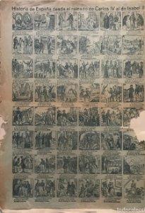 Auca. Historia de España desde el reinado de Carlos IV al de Isabel II 32,7x45,2 cm
