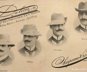 1897 Publicidad sombreros Chapeau Vrotée sobre cartulina negra 32,3×45,8 cm