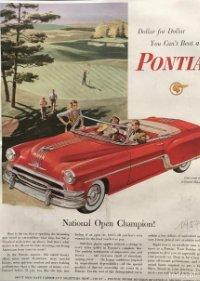 1954 Publicidad automóviles Pontiac