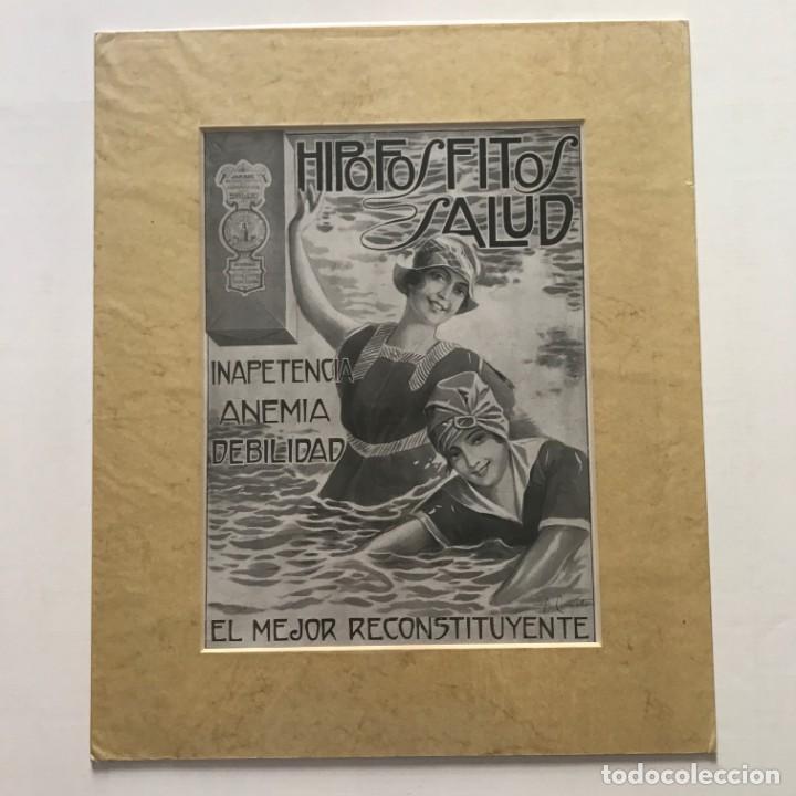 Carteles Publicitarios: Publicidad Hipofosfitos Salud con passpartú biselado beige con aguas 34,8×41,8 cm - Foto 3 - 155291630