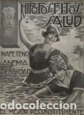 PUBLICIDAD HIPOFOSFITOS SALUD CON PASSPARTÚ BISELADO BEIGE CON AGUAS 34,8×41,8 CM (Coleccionismo - Carteles Gran Formato - Carteles Publicitarios)