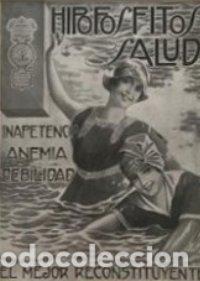 Publicidad Hipofosfitos Salud con passpartú biselado beige con aguas