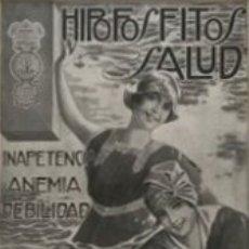 Carteles Publicitarios: PUBLICIDAD HIPOFOSFITOS SALUD CON PASSPARTÚ BISELADO BEIGE CON AGUAS 34,8×41,8 CM. Lote 155291630