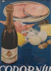 Publicidad Codorníu passpartú biselado beige 29,9×29,9 cm