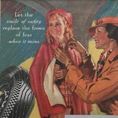 Carteles Publicitarios: 1935 PUBLICIDAD THE GENERAL DUAL PASSPARTÚ BISELADO BEIGE 29,9×29,9 CM. Lote 155293118