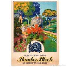 Carteles Publicitarios: CARTEL LITOGRÁFICO BOMBA BLOCH. Lote 155301590