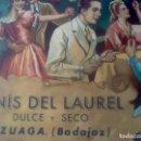Carteles Publicitarios: CARTEL ANIS LAUREL, AZUAGA,BADAJOZ, VER FOTOS. Lote 161731070