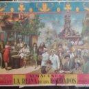 Carteles Publicitarios: CARTEL ALMACENES LA REINA DE LOS BORDADOS, VALENCIA Y MADRID 1ER PREMIO, LITOGRAFIA L,DURA VALENCIA. Lote 155517442