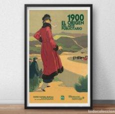 Carteles Publicitarios: CARTEL EXPOSICIÓN-1900 EL ORIGEN DEL ARTE PUBLICITARIO- CENTRO BANCAJA VALENCIA-RAMON BAIXERAS . Lote 156782226