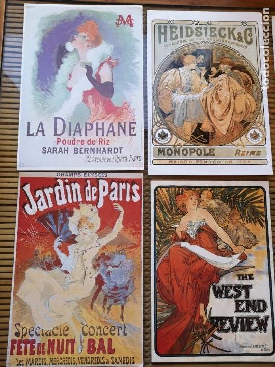 Carteles Publicitarios: 6 LLAMATIVOS CARTELES PEQUEÑOS PUBLICITARIOS FRANCESES ,AÑOS 90 - Foto 3 - 156891018