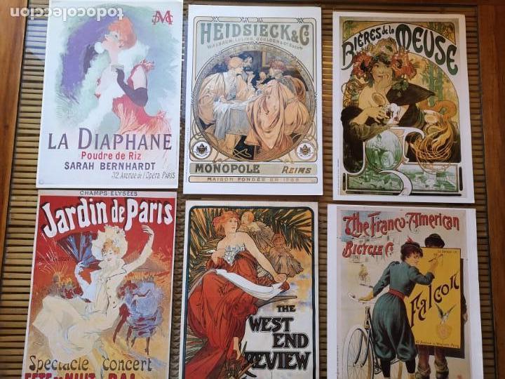 6 LLAMATIVOS CARTELES PEQUEÑOS PUBLICITARIOS FRANCESES ,AÑOS 90 (Coleccionismo - Carteles Gran Formato - Carteles Publicitarios)