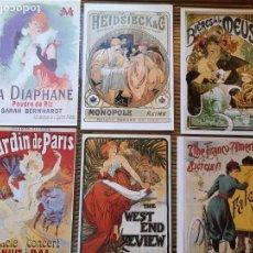 Carteles Publicitarios: 6 LLAMATIVOS CARTELES PEQUEÑOS PUBLICITARIOS FRANCESES ,AÑOS 90 . Lote 156891018