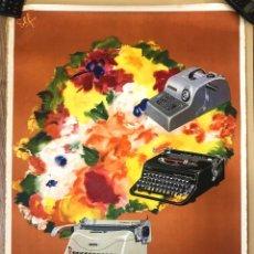 Carteles Publicitarios: CARTEL ANTIGUO - HISPANO OLIVETTI. AÑOS 60. LITOGRÁFICO.. Lote 157410582