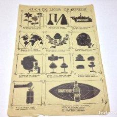 Carteles Publicitarios: CHARTREUSE -RARA Y ANTIGUA AUCA DE CHARTREUSE TARRAGONA - VILA . Lote 158688718