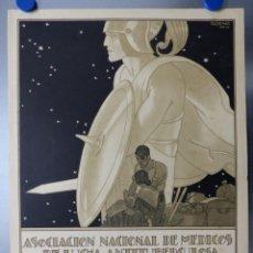 Carteles Publicitarios: PRECIOSO CARTEL ASOCIACION NACIONAL DE MEDICOS DE LUCHA ANTITUBERCULOSA, AÑO 1926 PENAGOS. Lote 158718802
